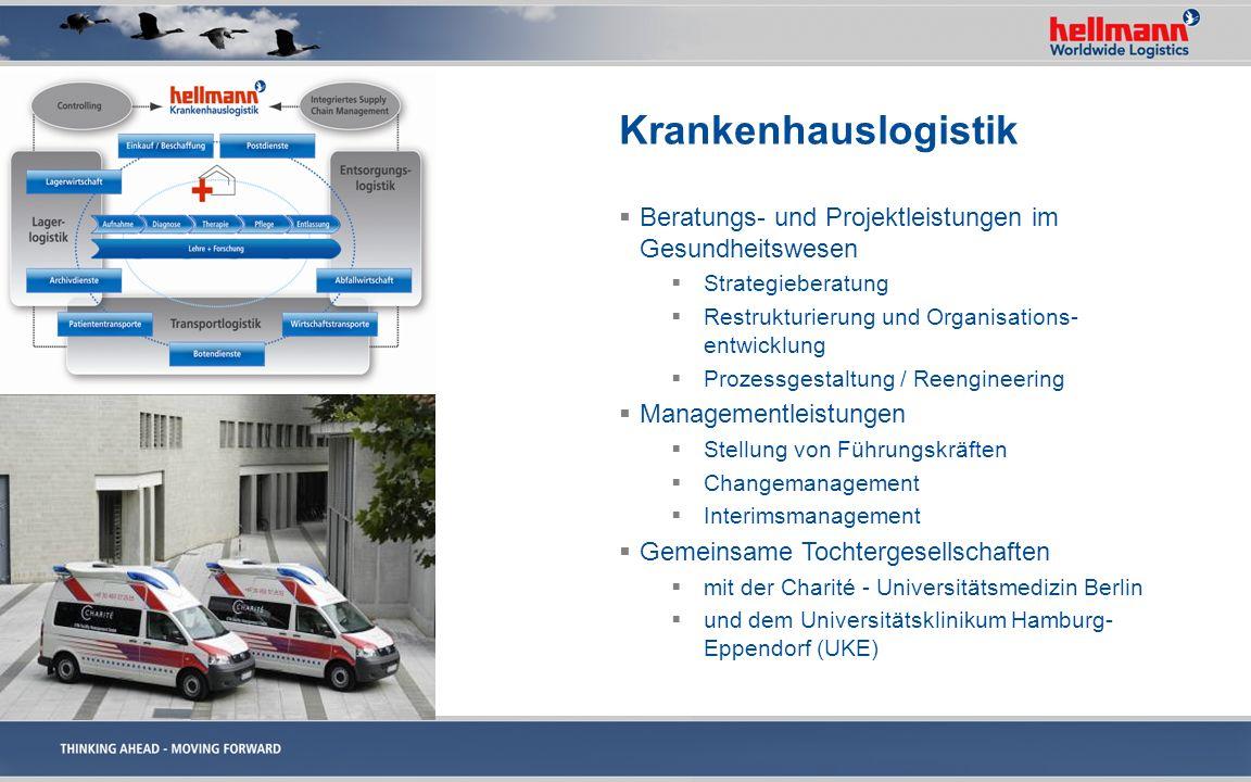 Krankenhauslogistik Beratungs- und Projektleistungen im Gesundheitswesen. Strategieberatung. Restrukturierung und Organisations-entwicklung.