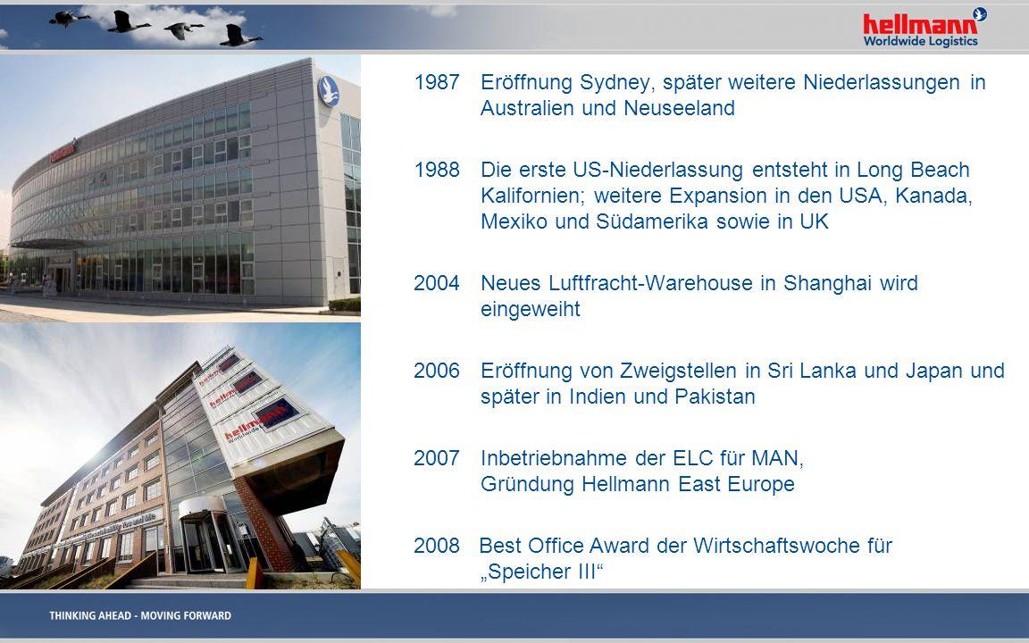 1987 Eröffnung Sydney, später weitere Niederlassungen in Australien und Neuseeland