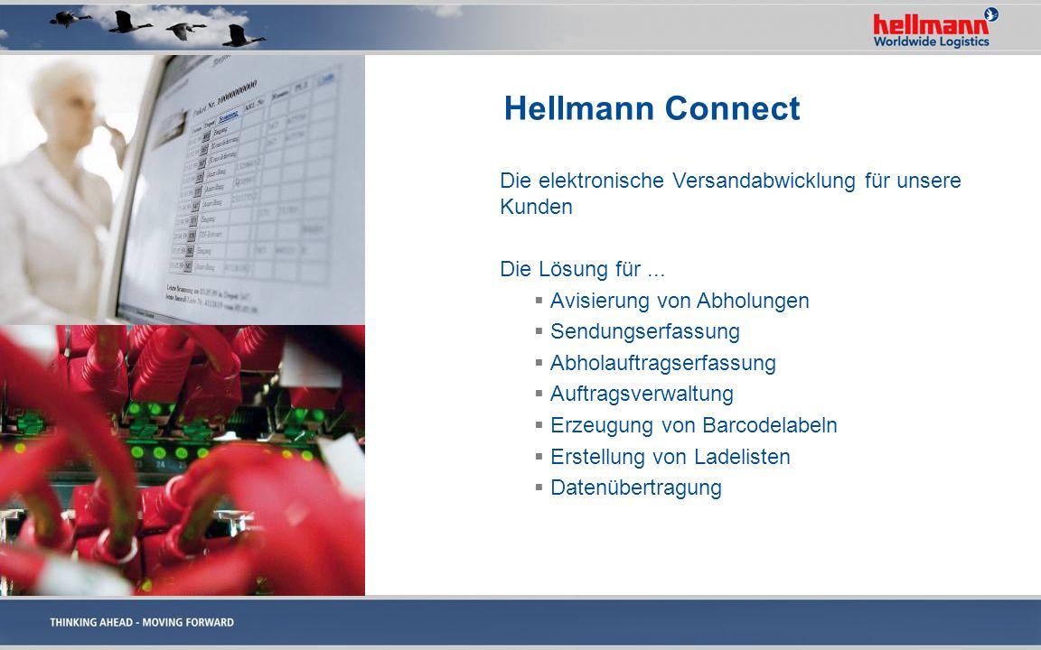 Hellmann Connect Die elektronische Versandabwicklung für unsere Kunden