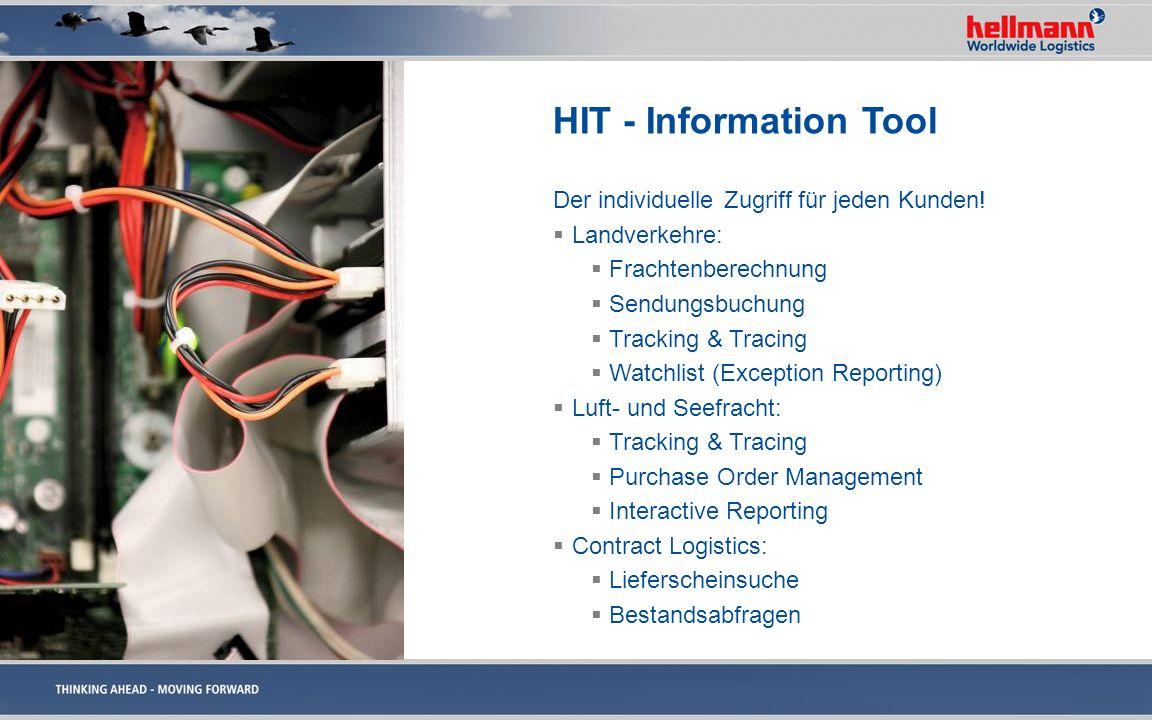HIT - Information Tool Der individuelle Zugriff für jeden Kunden!