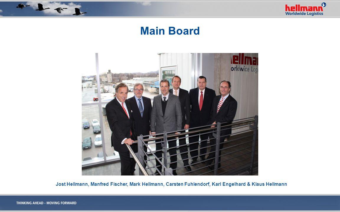 Main Board Jost Hellmann, Manfred Fischer, Mark Hellmann, Carsten Fuhlendorf, Karl Engelhard & Klaus Hellmann.