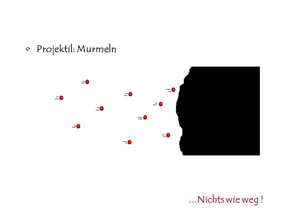 Projektil: Murmeln ...Nichts wie weg !