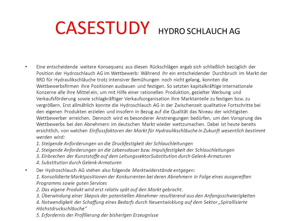 CASESTUDY HYDRO SCHLAUCH AG