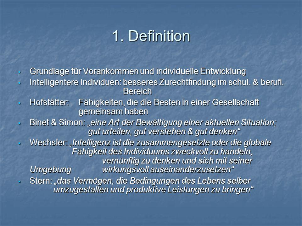 1. Definition Grundlage für Vorankommen und individuelle Entwicklung
