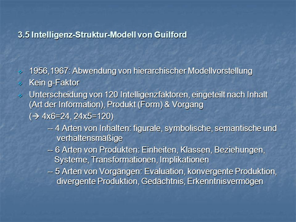 3.5 Intelligenz-Struktur-Modell von Guilford