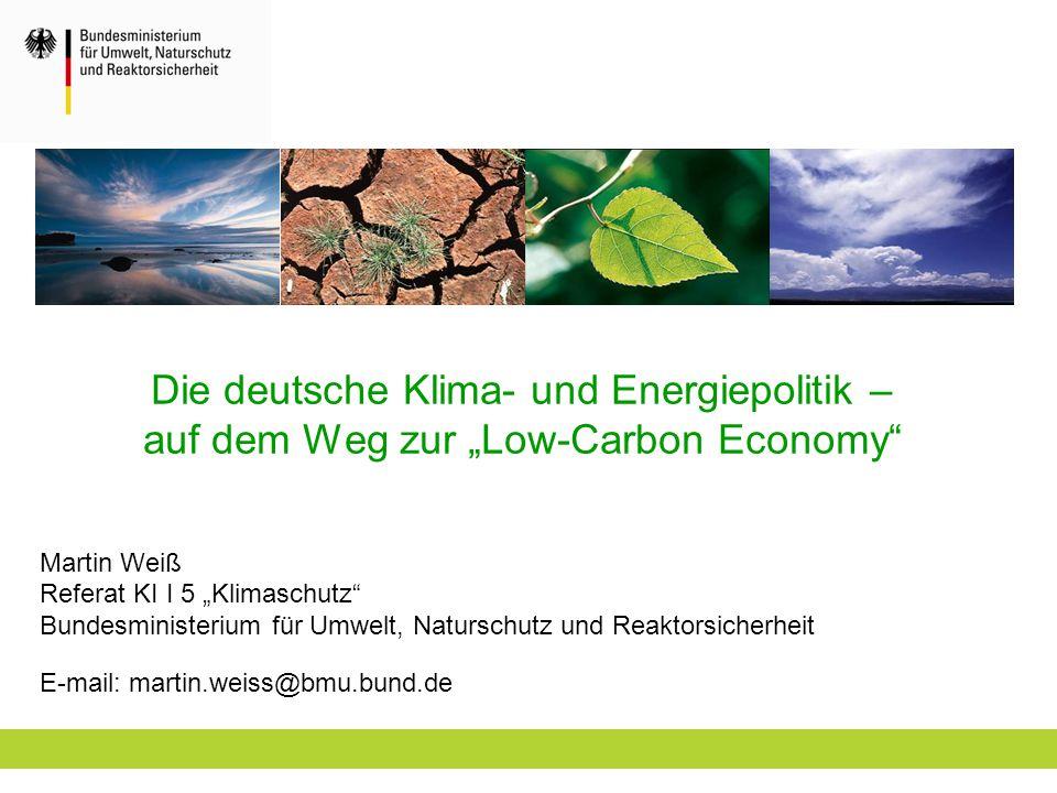 """Die deutsche Klima- und Energiepolitik – auf dem Weg zur """"Low-Carbon Economy"""