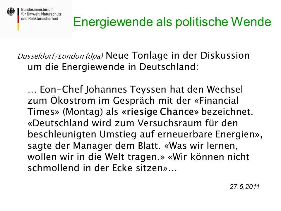 Energiewende als politische Wende