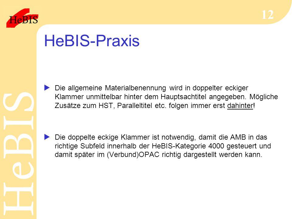 HeBIS-Praxis