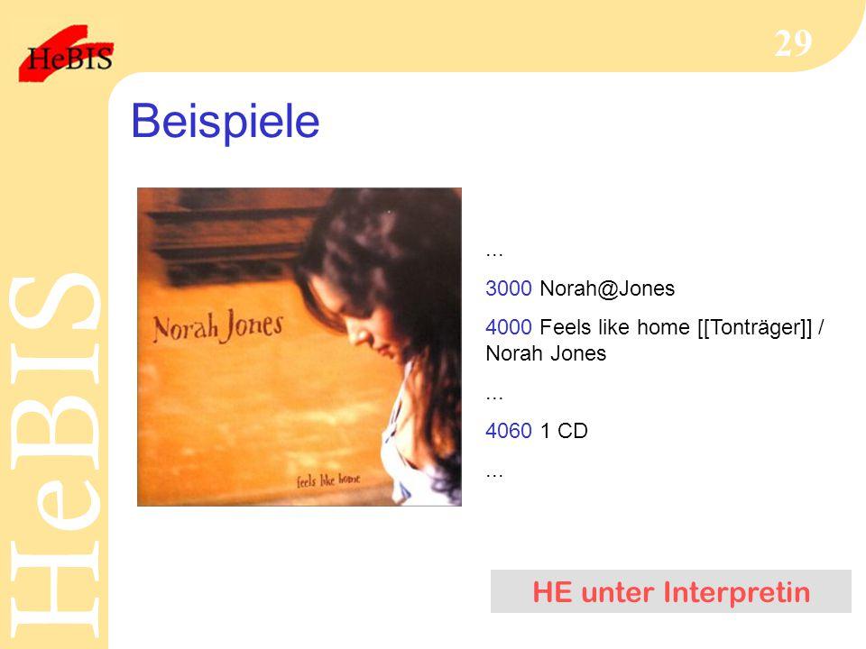 Beispiele HE unter Interpretin ... 3000 Norah@Jones