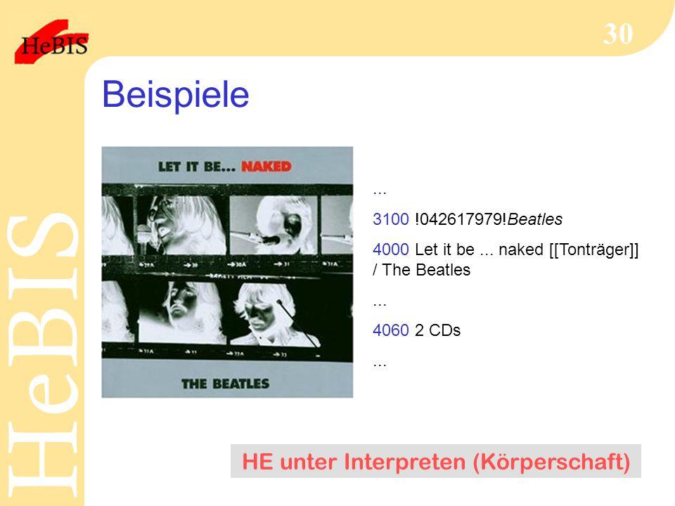 HE unter Interpreten (Körperschaft)