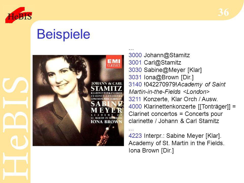 Beispiele ... 3000 Johann@Stamitz 3001 Carl@Stamitz