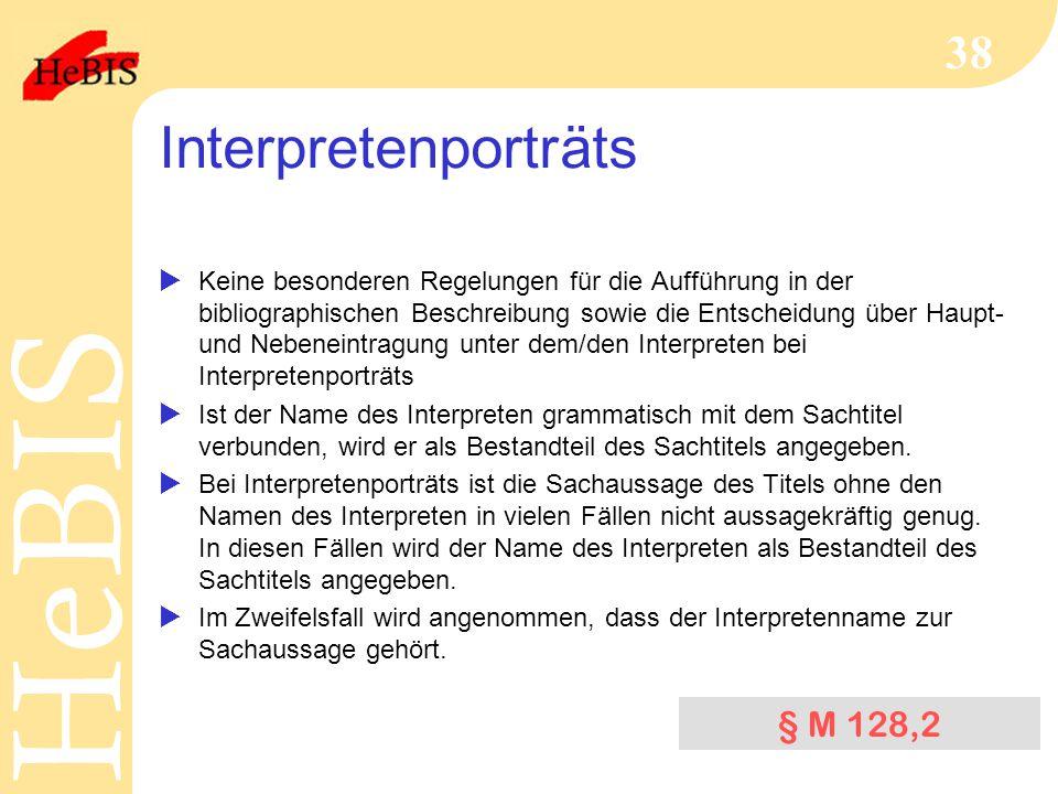 Interpretenporträts § M 128,2