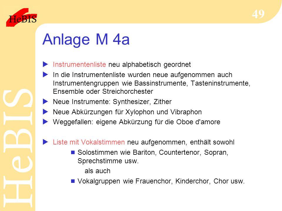 Anlage M 4a Instrumentenliste neu alphabetisch geordnet