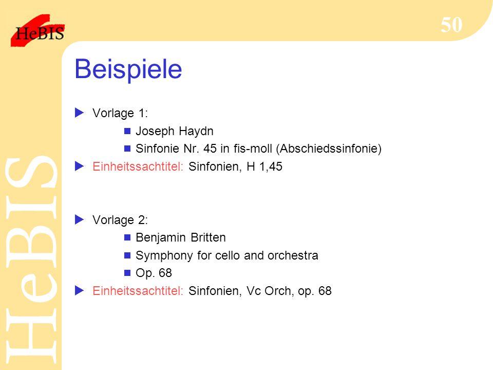 Beispiele Vorlage 1: Joseph Haydn