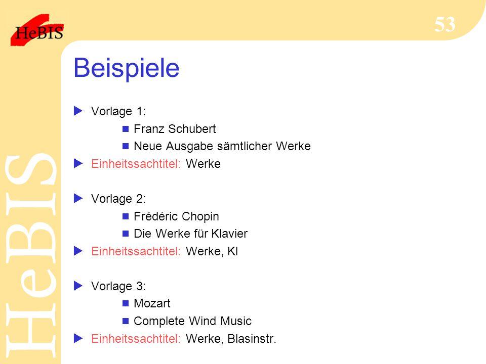 Beispiele Vorlage 1: Franz Schubert Neue Ausgabe sämtlicher Werke