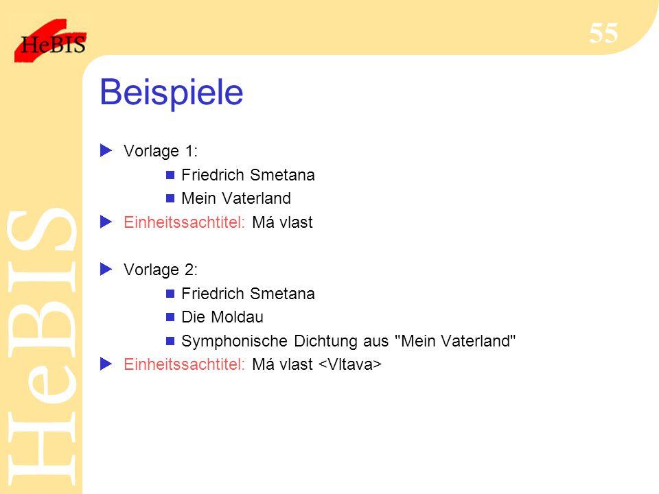 Beispiele Vorlage 1: Friedrich Smetana Mein Vaterland