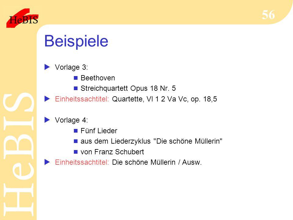 Beispiele Vorlage 3: Beethoven Streichquartett Opus 18 Nr. 5