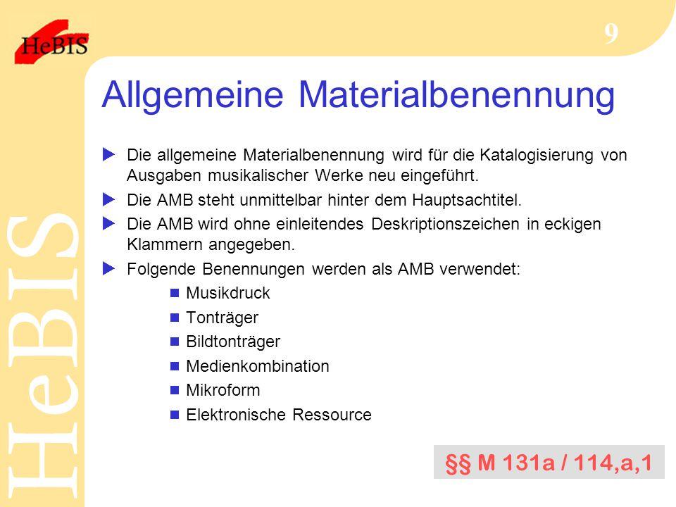 Allgemeine Materialbenennung