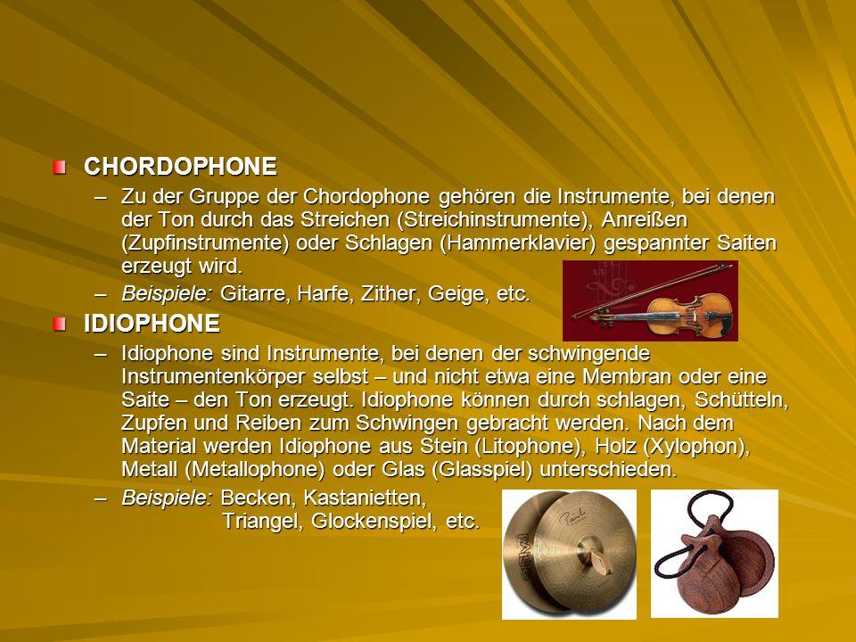 CHORDOPHONE IDIOPHONE