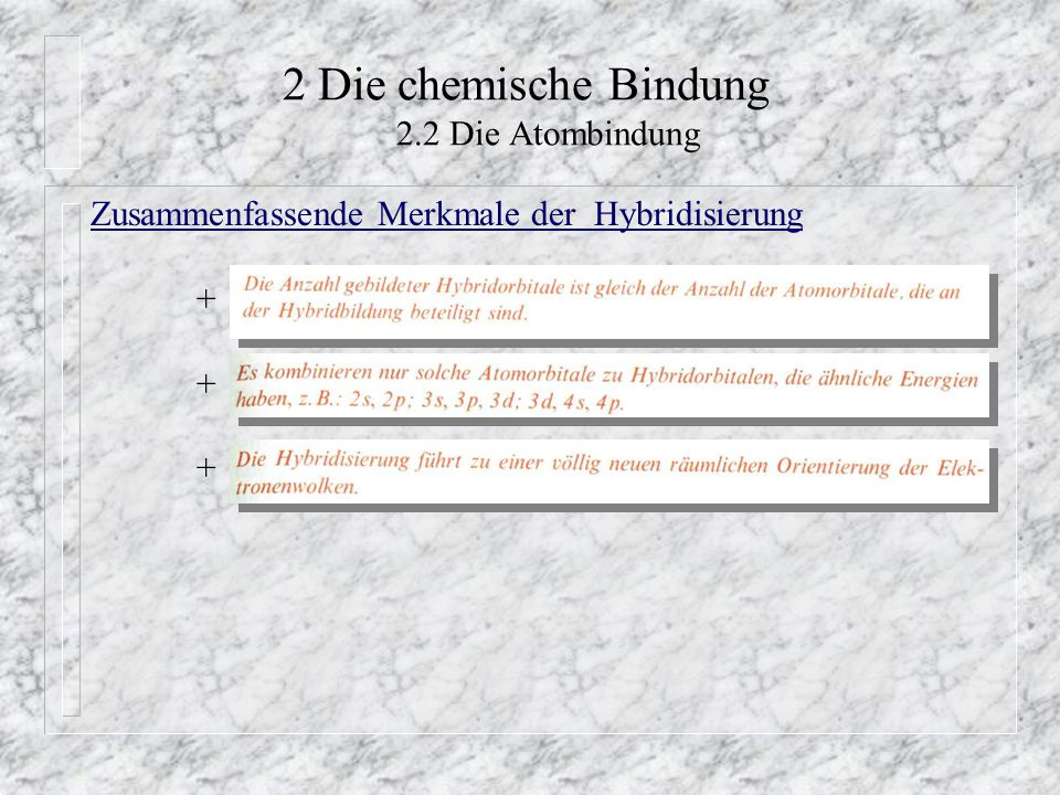 2 Die chemische Bindung 2.2 Die Atombindung