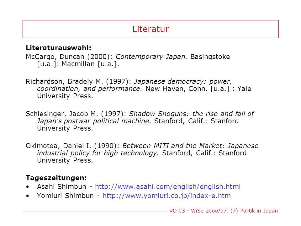 Literatur Literaturauswahl: