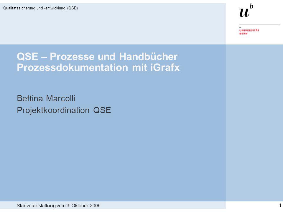 QSE – Prozesse und Handbücher Prozessdokumentation mit iGrafx
