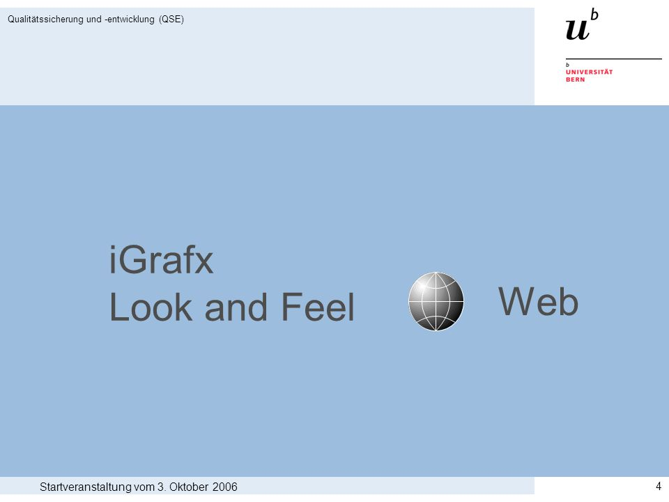 iGrafx Look and Feel Web Startveranstaltung vom 3. Oktober 2006