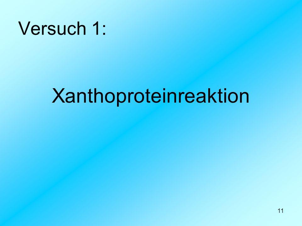 Xanthoproteinreaktion