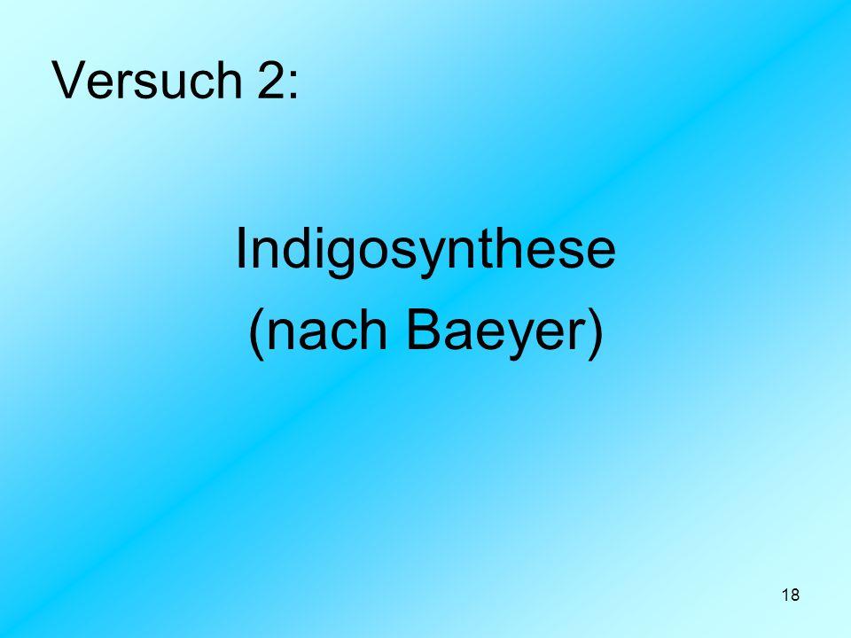 Versuch 2: Indigosynthese (nach Baeyer)