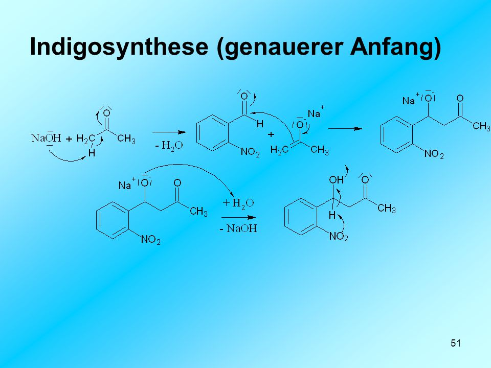 Indigosynthese (genauerer Anfang)