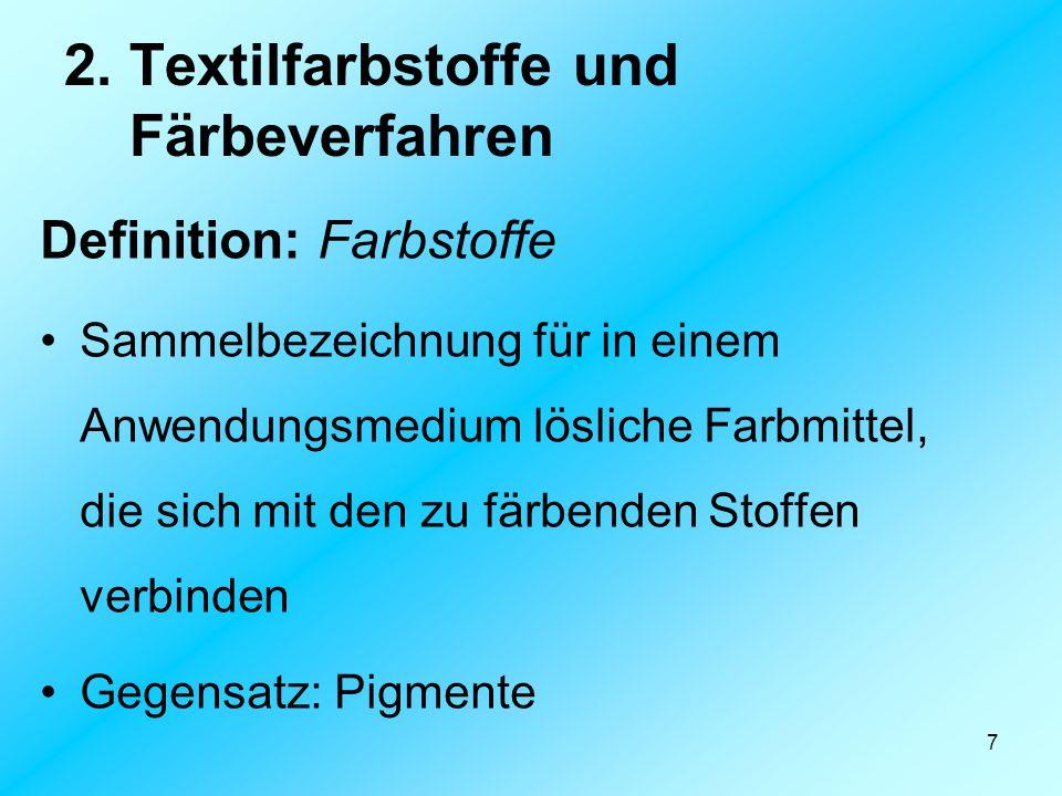 2. Textilfarbstoffe und Färbeverfahren