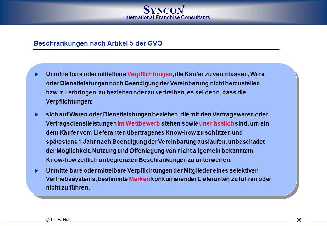 Beschränkungen nach Artikel 5 der GVO