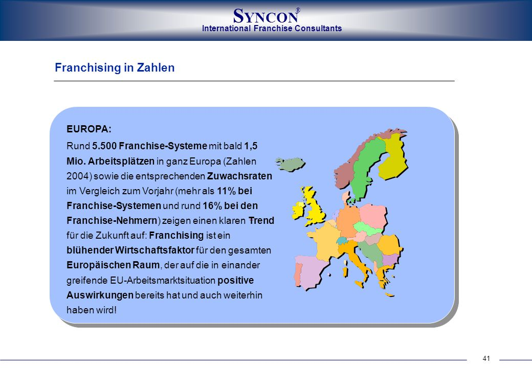 Franchising in Zahlen EUROPA: