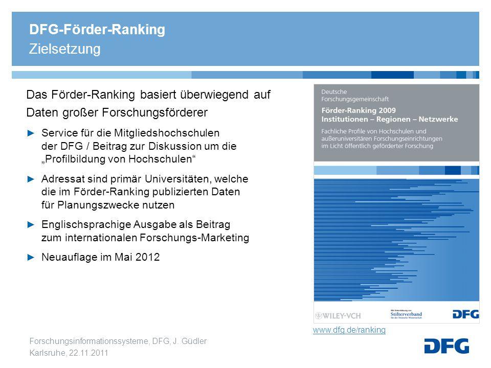 DFG-Förder-Ranking Zielsetzung