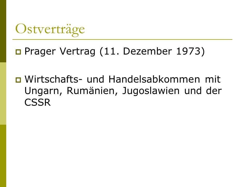 Ostverträge Prager Vertrag (11. Dezember 1973)