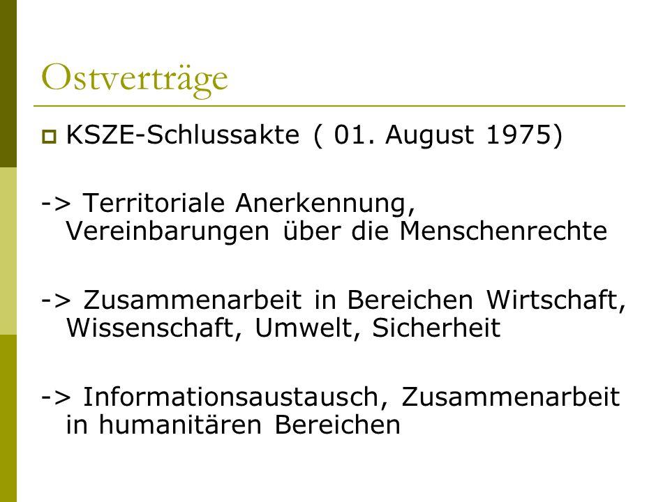 Ostverträge KSZE-Schlussakte ( 01. August 1975)