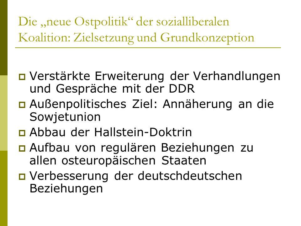 """Die """"neue Ostpolitik der sozialliberalen Koalition: Zielsetzung und Grundkonzeption"""