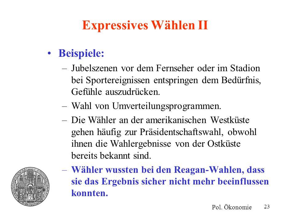 Expressives Wählen II Beispiele: