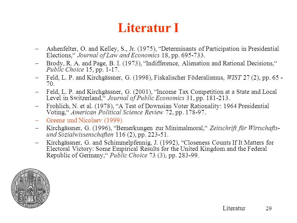 Literatur I