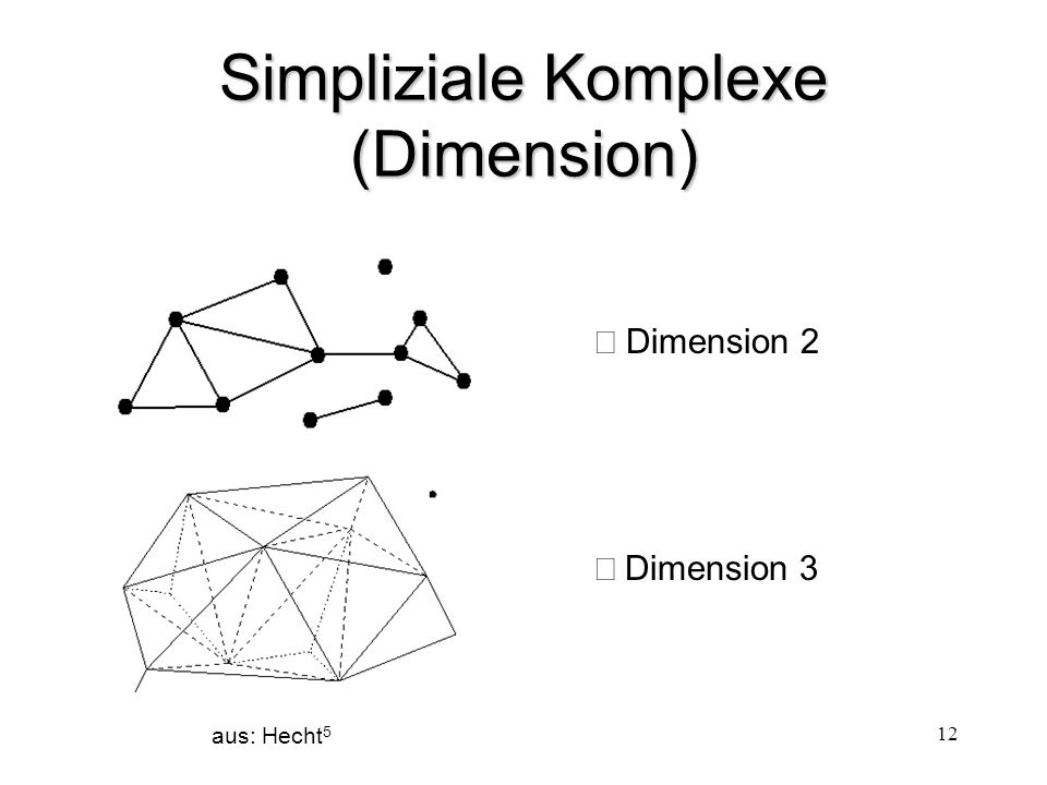 Simpliziale Komplexe (Dimension)