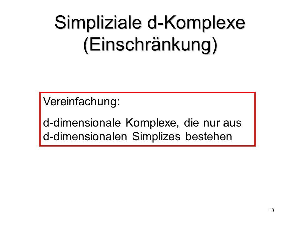 Simpliziale d-Komplexe (Einschränkung)