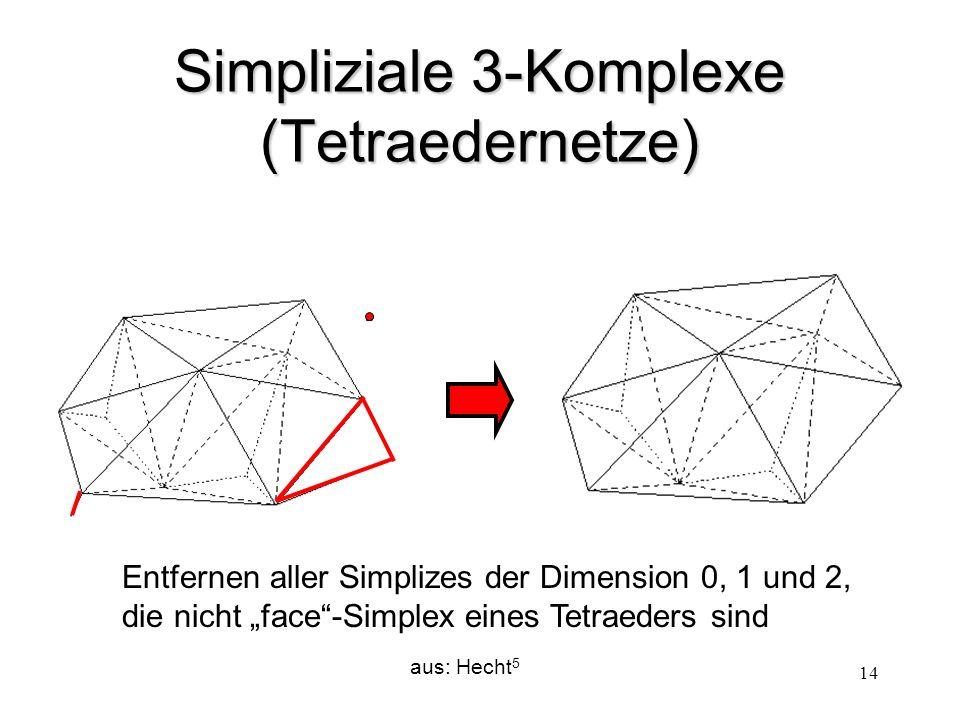 Simpliziale 3-Komplexe (Tetraedernetze)