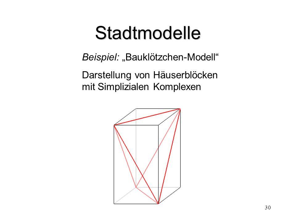 """Stadtmodelle Beispiel: """"Bauklötzchen-Modell"""