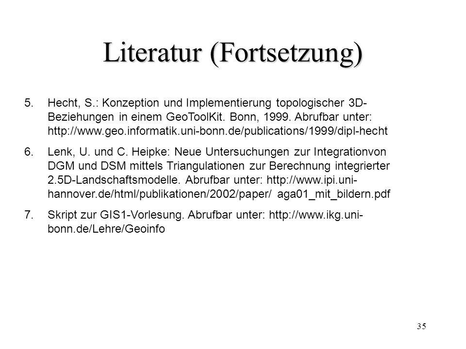 Literatur (Fortsetzung)
