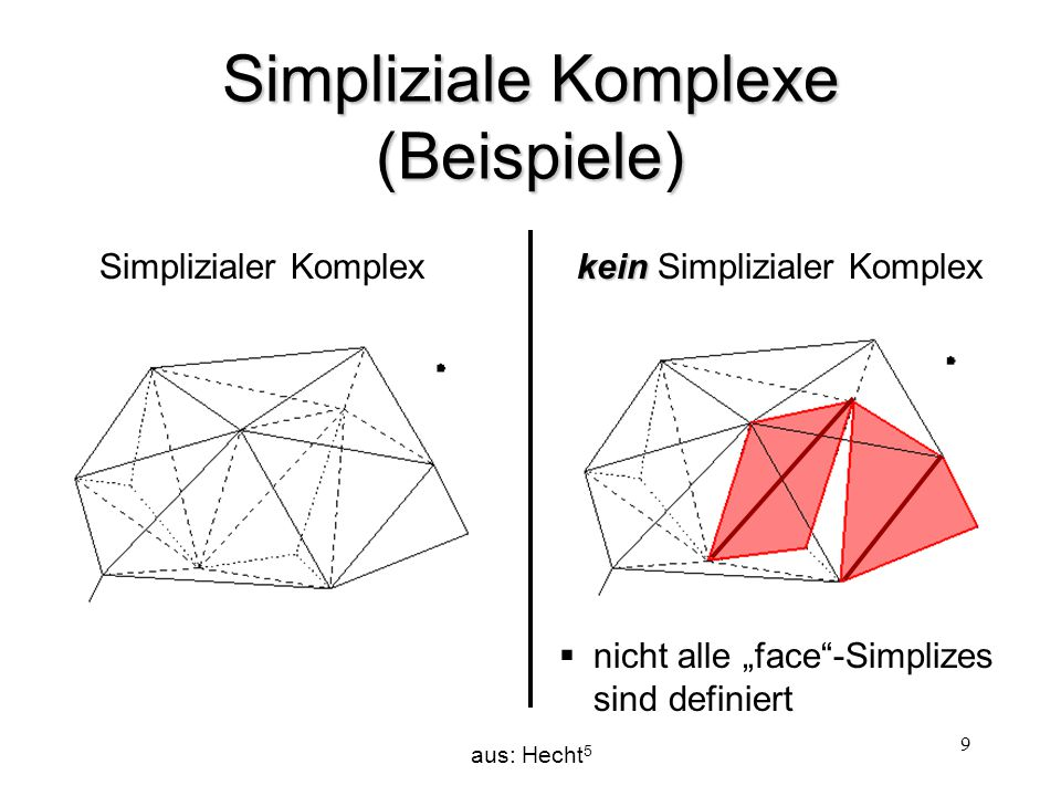 Simpliziale Komplexe (Beispiele)