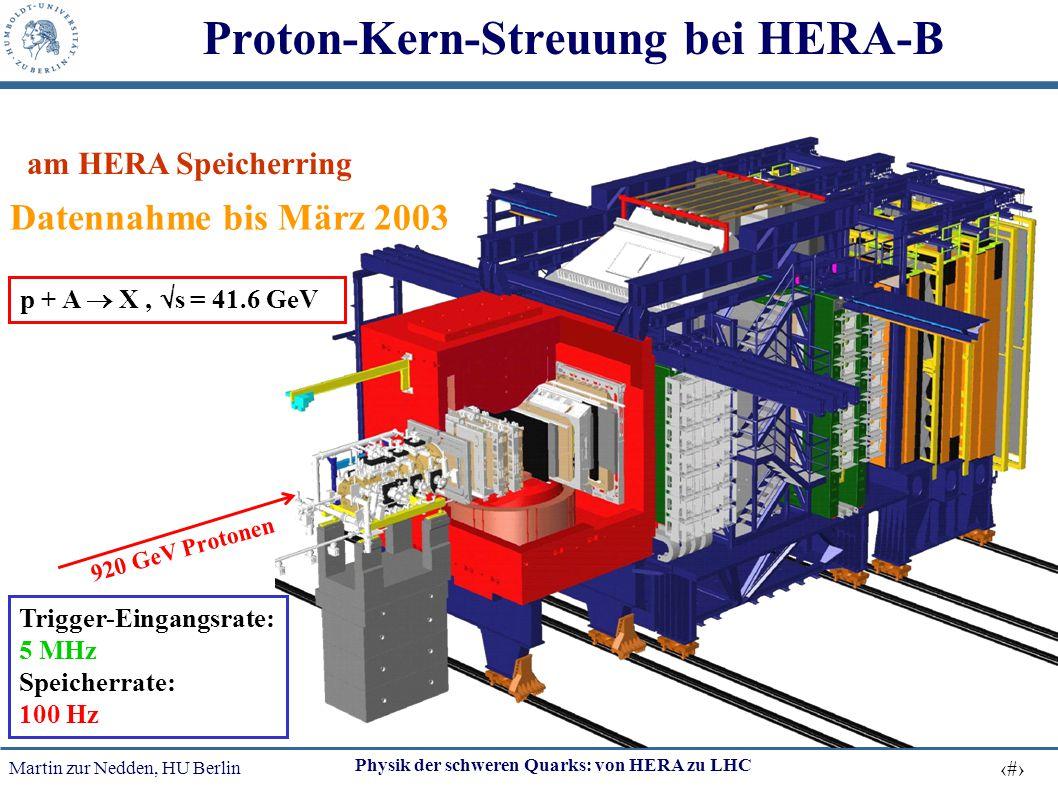 Proton-Kern-Streuung bei HERA-B