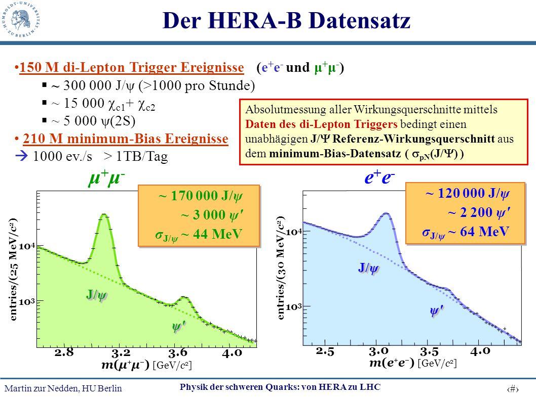 Der HERA-B Datensatz μ+μ- e+e-