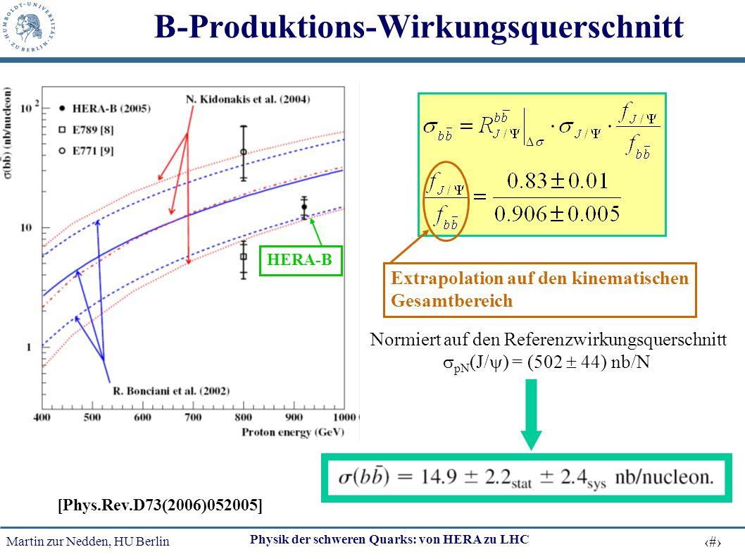 B-Produktions-Wirkungsquerschnitt