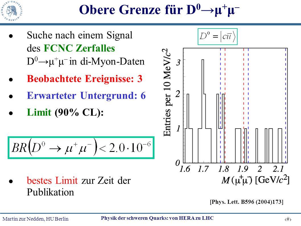 Obere Grenze für D0→μ+μ–
