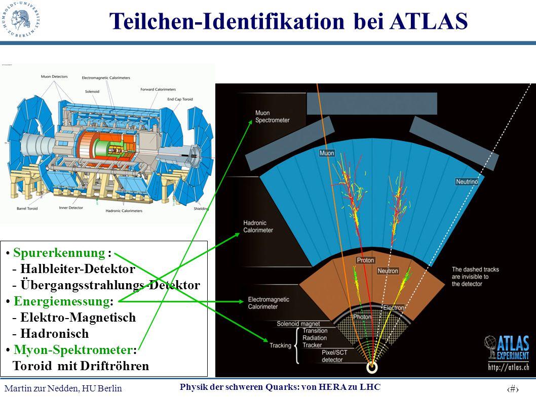 Teilchen-Identifikation bei ATLAS